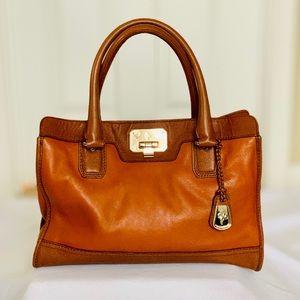 COLE HAAN Cognac Leather Satchel - No Strap